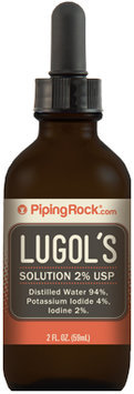 Piping Rock Health Products Lugol's Iodine 2% Solution 2 fl oz Dropper Bottle
