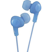 JVC Gumy Plus Inner Ear Headphones with Microphone Remote, Blue