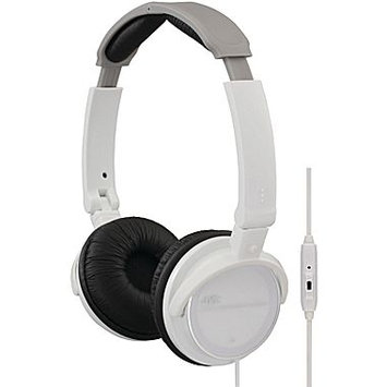 JVC HASR500W On-ear Headband with Remote and Microphone (White)