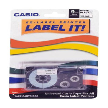 Casio Xr9wes Labeler Tape - 9mm - Black On White