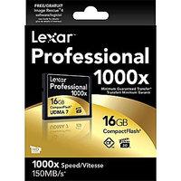 Lexar 16GB Professional 1000x CompactFlash Memory Card, 2 Pack