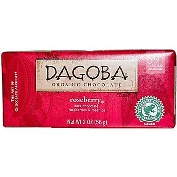 Dagoba Organic Chocolate 25043 Organic Rasberry Dark Chocolate Bar 59 Percent