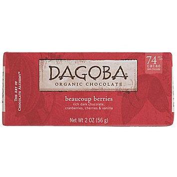 Dagoba Organic Chocolate - Bar Dark Chocolate Beaucoup Berries 74 Cacao - 2 oz.