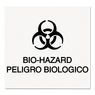 Rubbermaid Commercial Products Bilingual Bio-Hazard Decal RCP CL-1