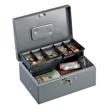 MMF Industries Cash Drawers and Boxes MMF Cash Box w/Cantilever Tray