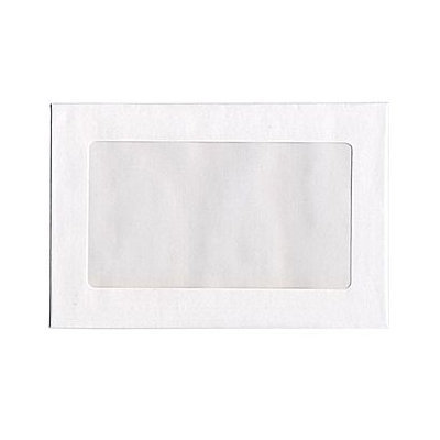 Jam Paper & Envelope White 9 x 12 Booklet Window Display Envelopes - 100 envelopes per pack