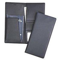 Royce Leather 211-BLUE-5 Passport Ticket Holder - Blue