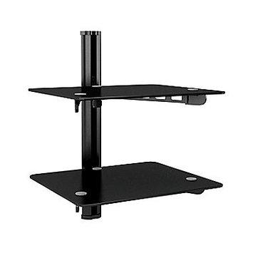 Corliving Sonax CS-2180 Black Component Wall Shelf - Black