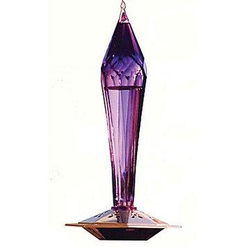 Schrodt FGHF-A Amethyst Faceted Glass Hummingbird Feeder