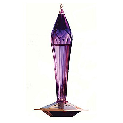 Schrodt FGHF-A Amethyst Faceted Glass Hummingbird Feeder