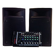 Nady Pss-300 Full Range Portable Pa With 8 Channel Mixer