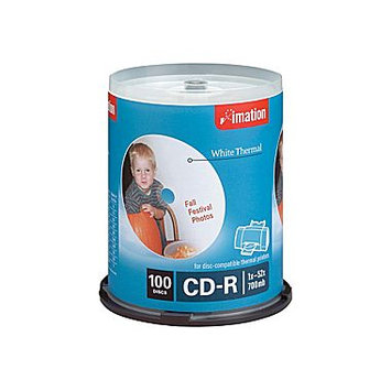 Imation 52x White Thermal Printable CD-R, 100pk Spindle