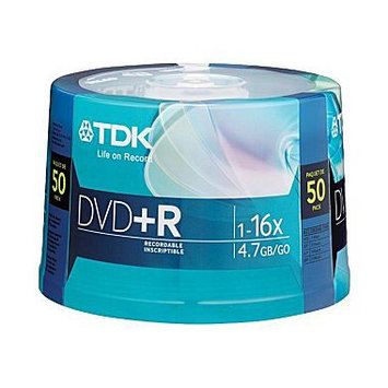 TDK 16X DVD+R 4.7GB 50 pack Spindle