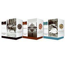 Wissotzky Tea Ava's Journey 3 Gift Boxes w/54 Silken Bags