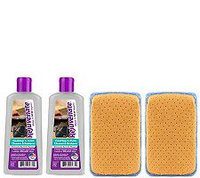 Rejuvenate Set of 2 8-oz Cooktop Cleaners & 2 Chamois Pads