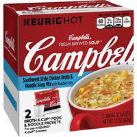 Campbell's® Fresh-Brewed Soup Southwest Style Chicken Broth & Noodle Soup Mix