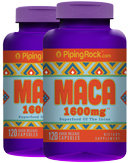 Piping Rock Maca 1600mg 2 Bottles x 120 Capsules
