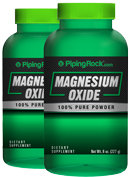 Piping Rock Magnesium Oxide Powder 2 Bottles x 8 oz Powder