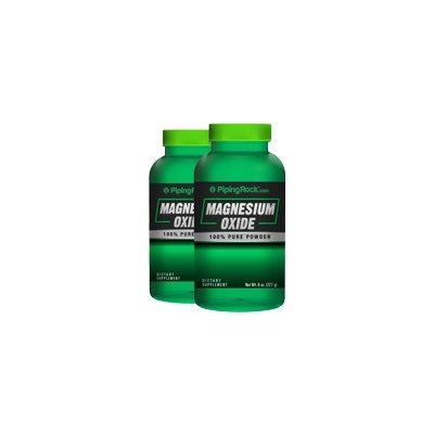 Piping Rock Magnesium Oxide Powder 2 Bottles x 8 oz Powder
