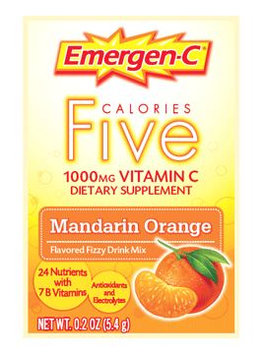 Emergen-C Five Calories 1,000 mg Vitamin C Mandarin Orange
