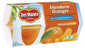 Del Monte® No Sugar Added Mandarin Oranges in Artificially Sweetened