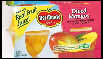Del Monte® No Sugar Added Diced Mangos Fruit Cups