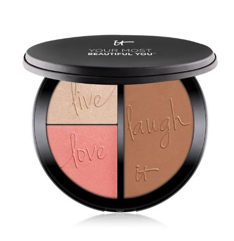 IT Cosmetics® Your Most Beautiful You™ Anti-Aging Matte Bronzer, Radiance Luminizer & Brightening Blush Palette