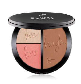 IT Cosmetics® Your Most Beautiful You™ Anti-Aging Matte Bronzer, Radiance Luminizer & Brightening Blush Palette