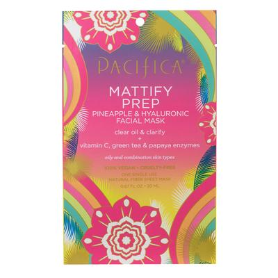 Pacifica Mattify Prep Pineapple & Hyaluronic Facial Mask