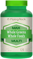 Piping Rock Whole Greens/Whole Foods Multi Vitamin 120 Coated Caplets