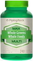 Piping Rock Whole Greens/Whole Foods Multi Vitamin 240 Coated Caplets