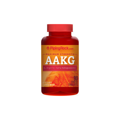 Piping Rock AAKG 1200mg Nitric Oxide Enhancer 90 Coated Caplets