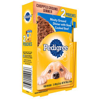 Pedigree® Chopped Ground Dinner Meaty Ground Dinner with Slow Cooked Beef Wet Dog Food