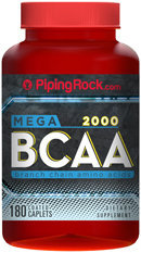 Piping Rock BCAA 2000 180 Coated Caplets