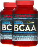 Piping Rock BCAA 2000 2 Bottles x 180 Coated Caplets