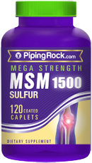 Piping Rock MSM 1500mg 120 Coated Caplets