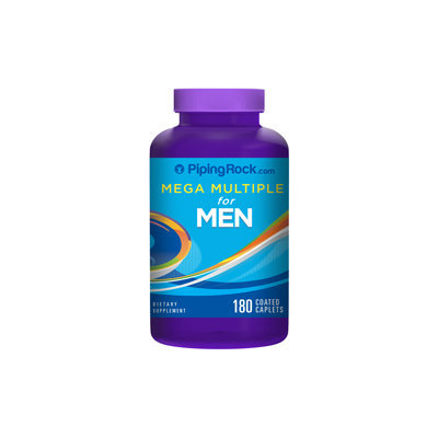 Piping Rock Mega Multiple Vitamin for Men 180 Coated Caplets