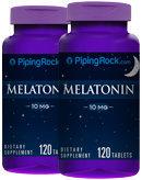 Piping Rock Melatonin 10mg 2 Bottles x 120 Tablets