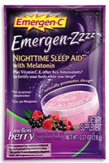 Emergen-C Emergen-Zzzz Nighttime Sleep Aid with Melatonin Mellow Berry