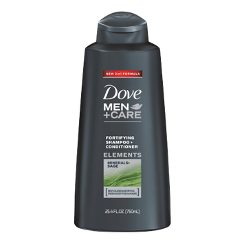 Dove Men+Care Elements Minerals + Sage Fortifying Shampoo And Conditioner