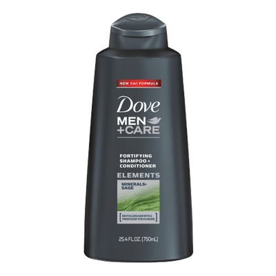 Dove Men+Care Elements Minerals and Sage Shampoo and Conditioner