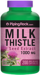Piping Rock Milk Thistle Seed Extract 1000mg 200 Capsules