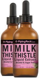 Piping Rock Milk Thistle Seed Liquid Extract 2 Dropper Bottles x 2 fl oz (59 mL)