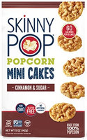 SkinnyPop® Cinnamon & Sugar Popcorn Mini Cakes