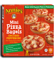 Annie's®  Homegrown Mini Pizza Bagels Uncured Pepperoni
