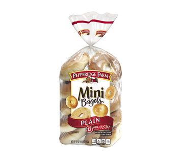 Pepperidge Farm® Mini Plain Pre-sliced Bagels