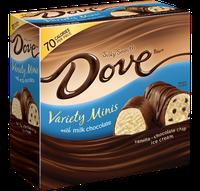 Dove Chocolate Dovebar Miniatures Variety Pack With Milk Chocolate