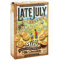 Late July® Snacks Organic Mini Milk Chocolate Sandwich Cookies
