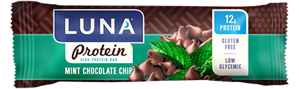 Luna Protein Mint Chocolate Chip Protein Bars
