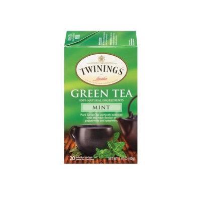 TWININGS® OF London Green Tea With Mint Tea Bags